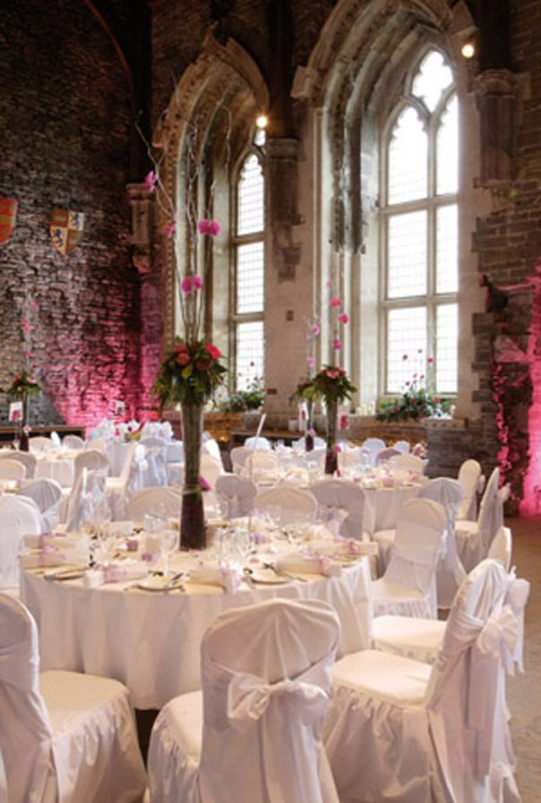 Unique Wedding Venues in Wales That Will Blow Your Mind Caerphilly Castle Wedding Reception