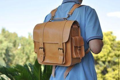 Рюкзаки ручной работы. Ярмарка Мастеров - ручная работа. Купить Кожаная фото сумка/ранец/портфель/ноутбук кейс - разные цвета кожи. Handmade.