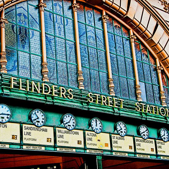 Melbourne Series - The Clocks, Flinders Street Station
