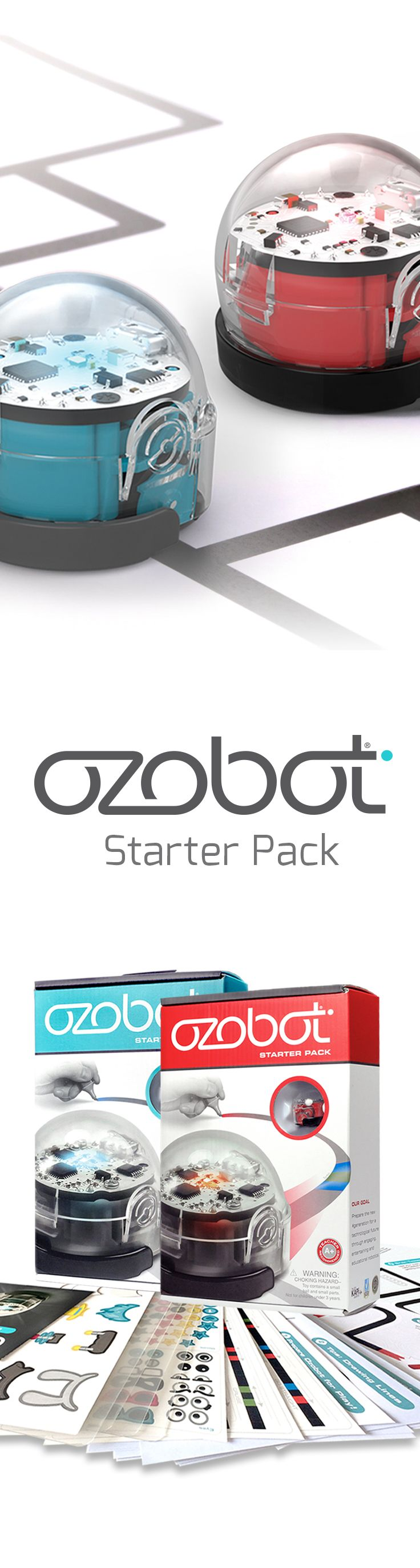 Bring your Ozobot to life with the Starter pack! Full of fun DIY activities and STEM challenges!