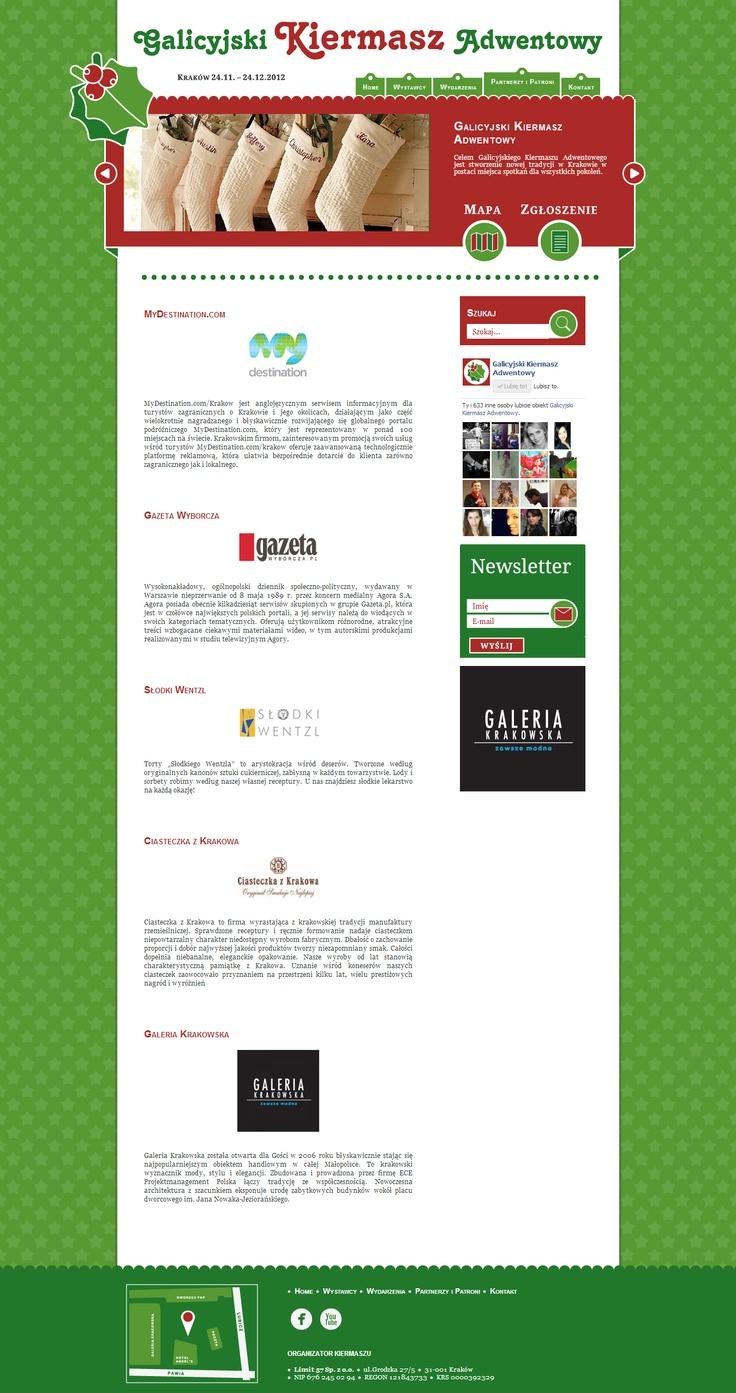 www.gka.com.pl Partnerzy i Patroni  Galicyjski Kiermasz Adwentowy