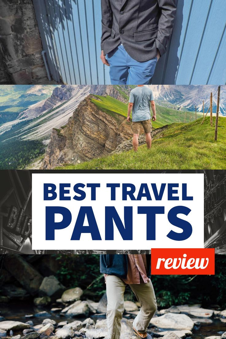 Men's travel pants review | Best travel trousers #travelpants #packinglight #menswear #mensstyle #mensclothing