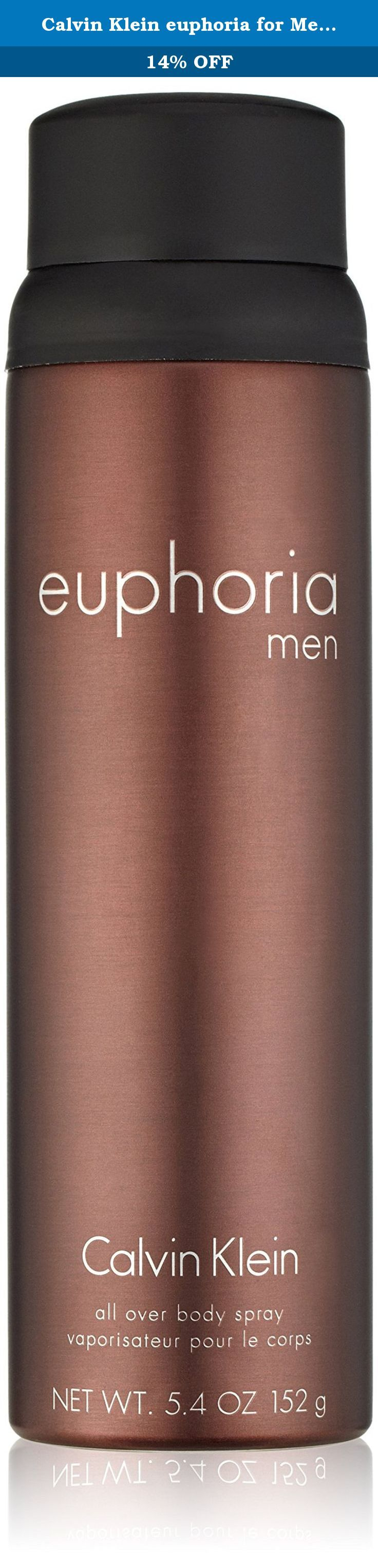 Calvin Klein euphoria for Men Body Spray, 5.4 oz. Addictive. Masculine. Sexy. The lighter version of your favourite scent, euphoria men body spray is the perfect way to refresh and re-energize yourself throughout the day.