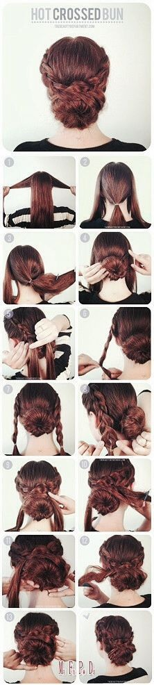 Crossed Bun Tutorial