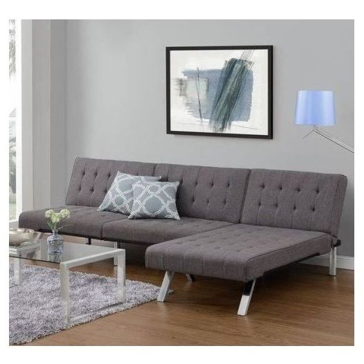 Modern Convertible Sectional Couch Grey Chaise Lounger Sofa Sleeper Bed NEW  Last set left! Free Shipping Included. Note: This sale is for both the convertible futon and lounger chaise (2 separate pieces)  The two together provide an extra-larg...