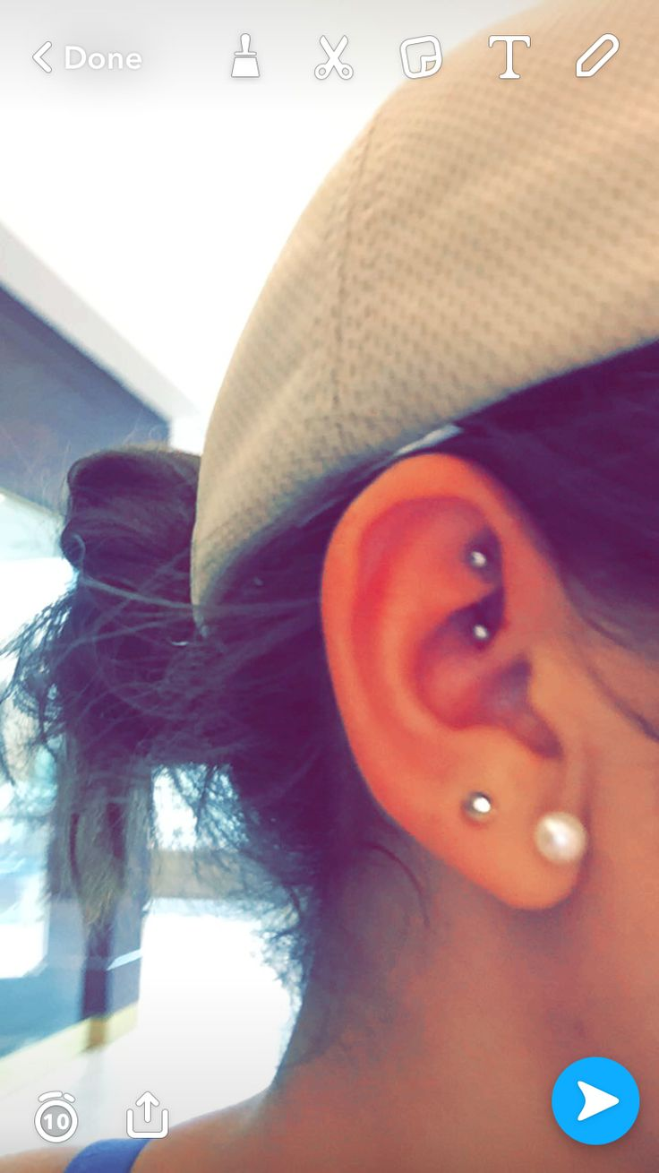 Rook Piercing. Beautiful and cool.