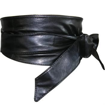 Wide Black Obi Belt from The Latest Thing