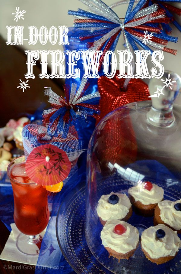 """Patriotic party themes are on our minds lately!  Use our """"dynamite"""" tutorial on how to make a centerpiece to really set your party off!"""