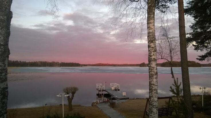 #ilta #evening #Punkaharju #Puruvesi #järvi #lake #nature  #Suomi #Finland #talo #house #forsale #talomyytävänä  #winter #talvi