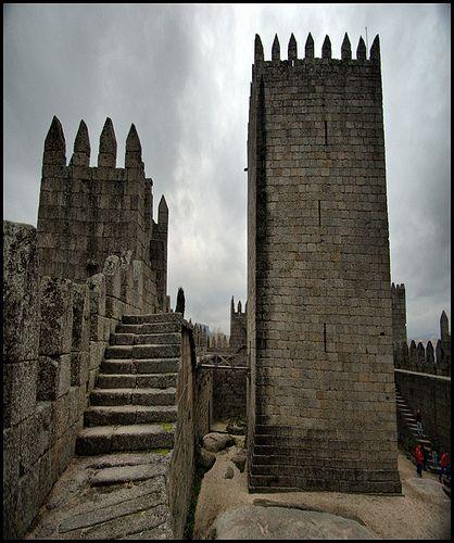 Guimaraes Castle tower, Portugal