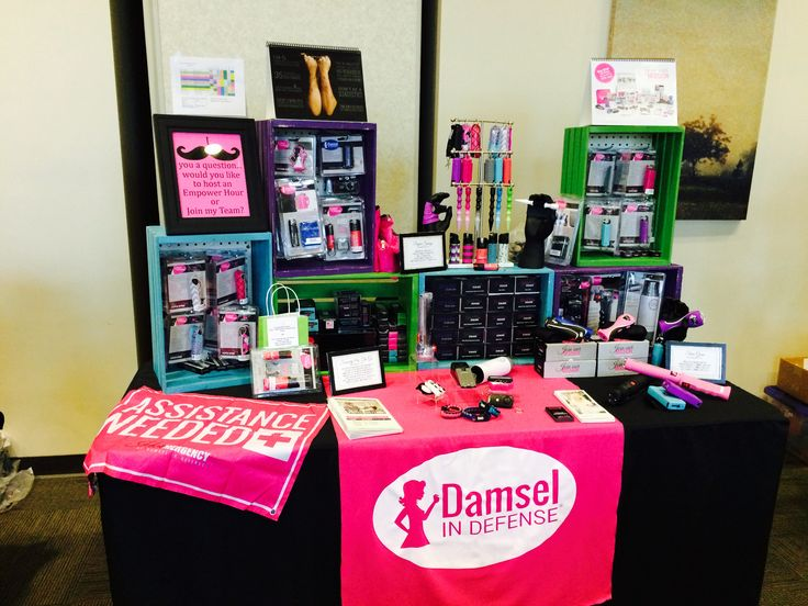 Display with inventory for Buena Park Women's Club Quartermania - all ready to Equip, Empower & Educate!