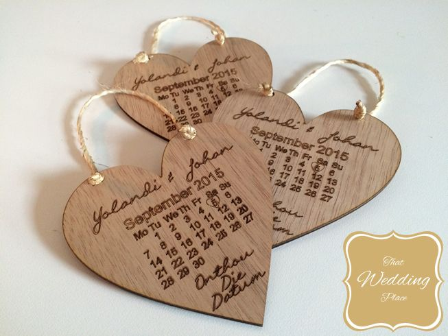 Wedding Save The Date - Calendar Heart
