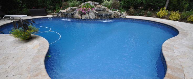 Pool pavers | Swimming pool decking | Coping | Paving Stone Select, swimming pool waterfall
