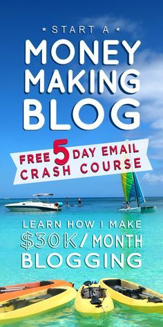 I'm so excited to share my FREE 5 Day Email Crash Course that will have you blogging�in 5 days�or less. This is a step by step email series that shows you how to start your blog the right way. No technical experience required. The emails also include a link to our private Facebook group with 12,000+ other beginning bloggers where we run fun challenges and offer lots of support. Live the lifestyle of your dreams! Enter your email address so I can email it right out to you.