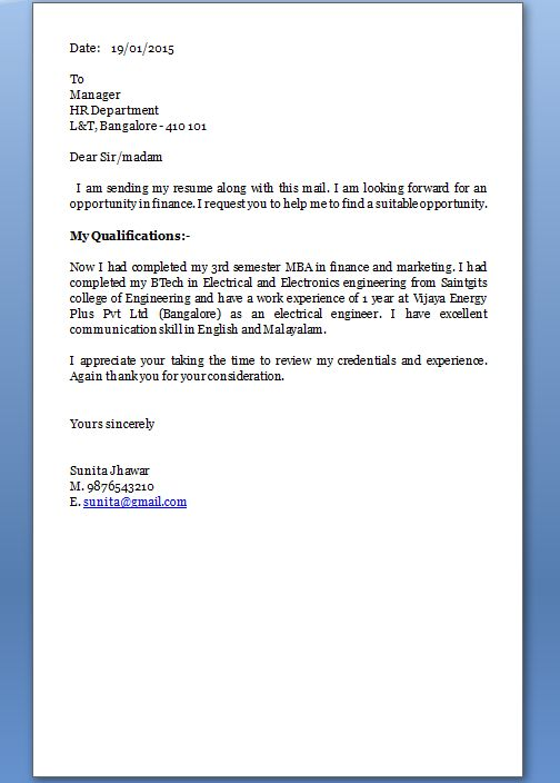 How Make Cover Letter For Resume Very Easy Create The
