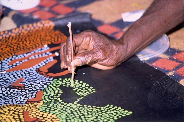 Anangu art by Parks Australia, via Flickr