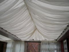 Panoramio - Photo of Voile Curtain attached to conservatory roof for the Moroccan tent style