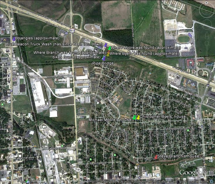 West Memphis Three Maps