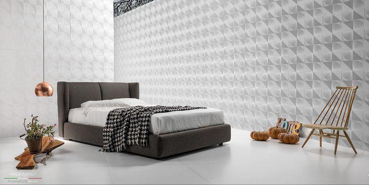 GROSS BASSO collezione Night di EXCO' #letto #imbottito #tessuto #ecopelle #contenitore #exco