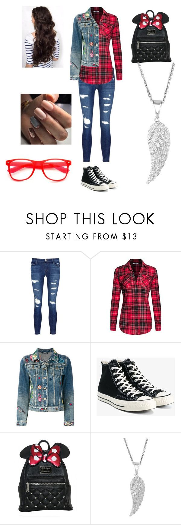 """Untitled #73"" by skyepicness on Polyvore featuring J Brand, Gucci, Converse and ZeroUV"