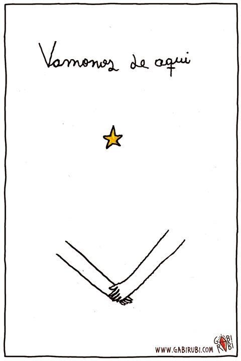 ¡Vámonos de aquí! Gabi Rubi - ilustrador, historietista y dibujante y etc.
