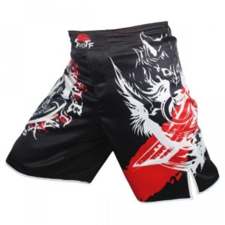 Training Kickboxing Shorts MMA Boxing knife Wolf Fight Shorts Muay Thai Boxing  #Unbranded