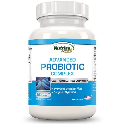 Nutriza Select - INTEGRATORE PROBIOTICO - Complesso probiotico avanzato per la rigenerazione della flora intestinale - 60 capsule vegetali a somministrazione giornaliera - Migliora le funzioni del sistema immunitario, la salute del colon e la digestione - Prodotto negli Stati Uniti