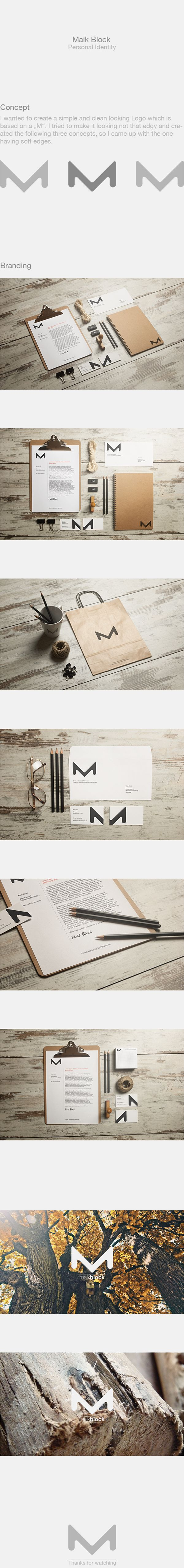 Cool Brand Identity Design on the Internet. Maik Block. #branding #brandidentity #identitydesign