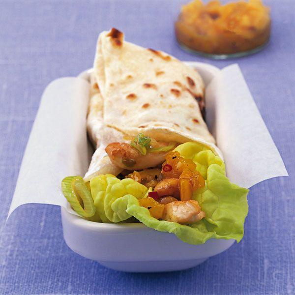 Chicken Tortilla Wraps Rezept Rezepte Lebensmittel Essen Kochen