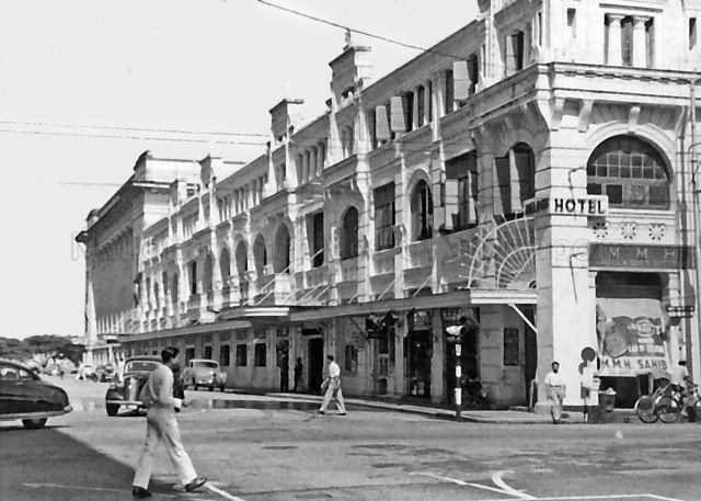 Adelphi Hotel at the junction of Coleman Street and North Bridge Road, c.1950s