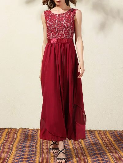 SHARE & Get it FREE | Lace Bodice Maxi Prom DressFor Fashion Lovers only:80,000+ Items • New Arrivals Daily Join Zaful: Get YOUR $50 NOW!