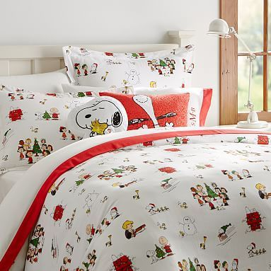 Peanuts™  Flannel Duvet Cover + Sham #pbteen  I really want this.