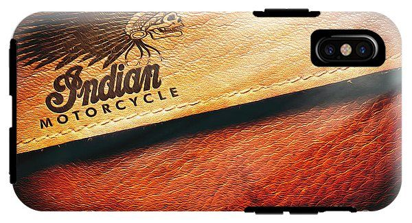 Indian Motorcycle Buffalo Leather Bag IPhone X Tough Case for Sale ...