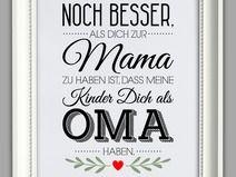 """""""BESTE OMA"""" Kunstdruck, Muttertag Geschenk"""