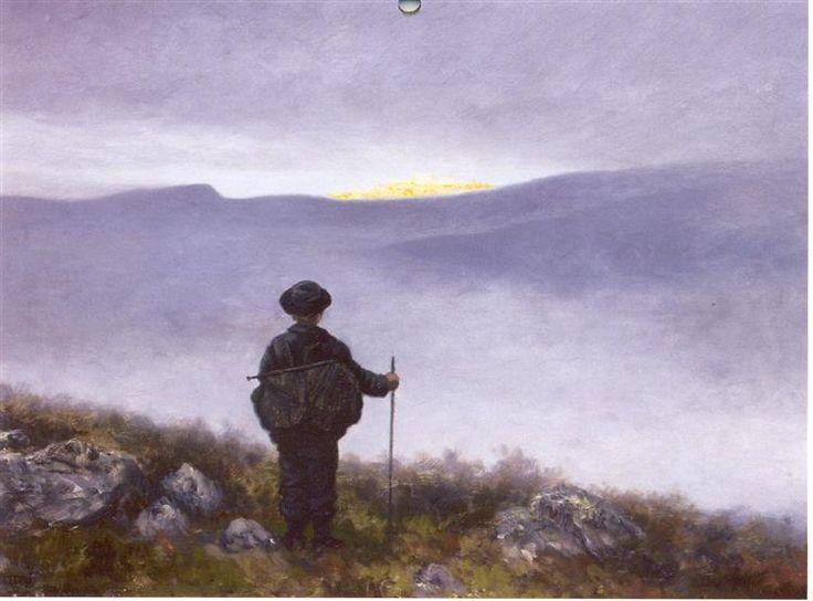 Soria Moria Slott, 1911 by Theodor Severin Kittelsen. Neo-Romanticism, Symbolism. illustration