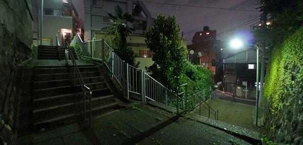 夜散歩のススメ「クランク階段」東京都豊島区