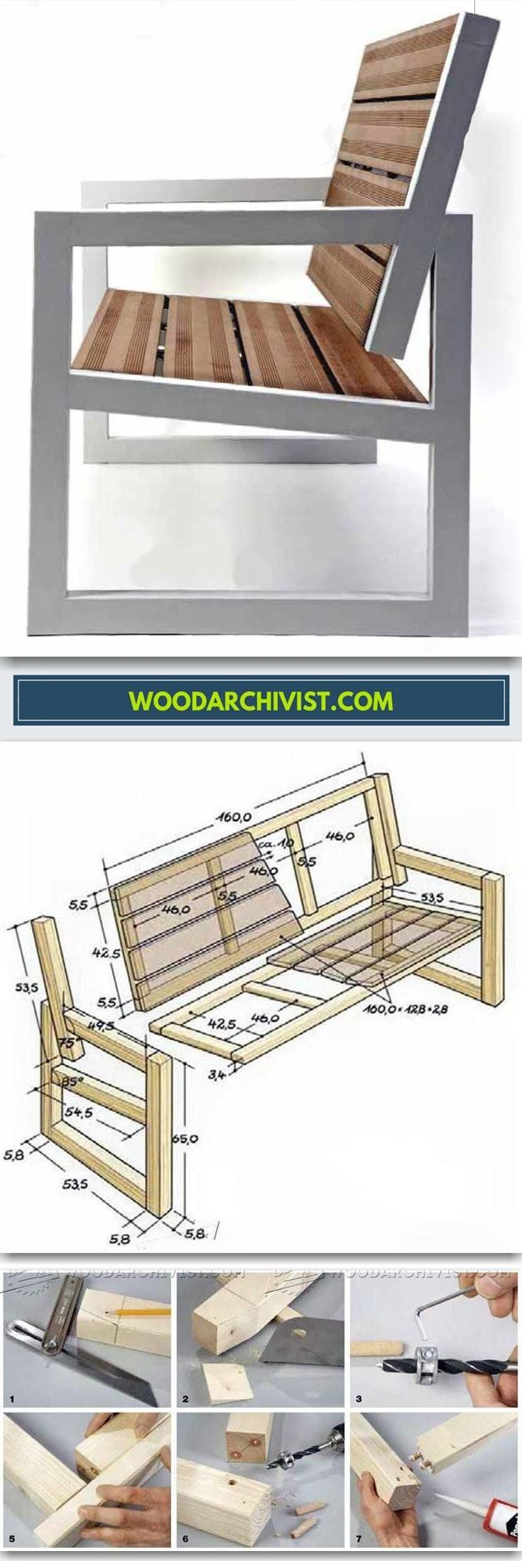 DIY Outdoor Bench - Outdoor Furniture Plans and Projects | WoodArchivist.com