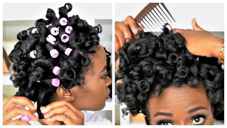 Perm Rod Set On Wet Natural Hair C