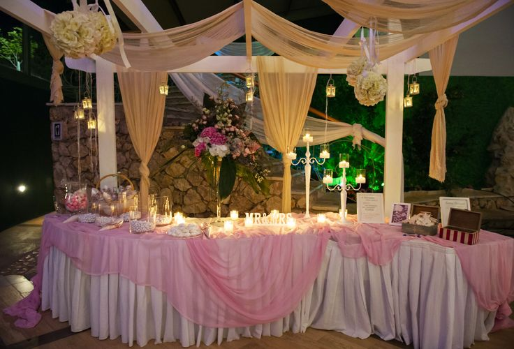 Wishes table for wedding pink and white theme / τραπεζι ευχων γαμου