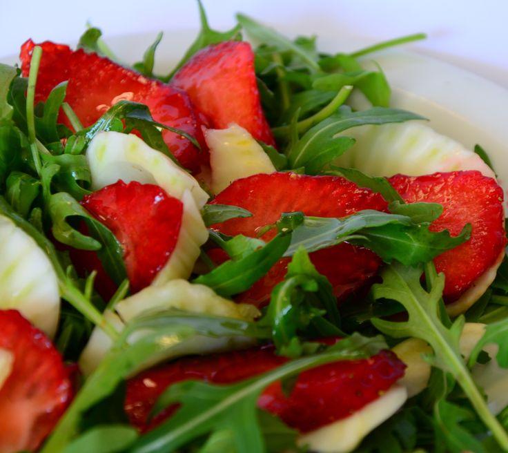 Strawberry Fennel and arugula salad