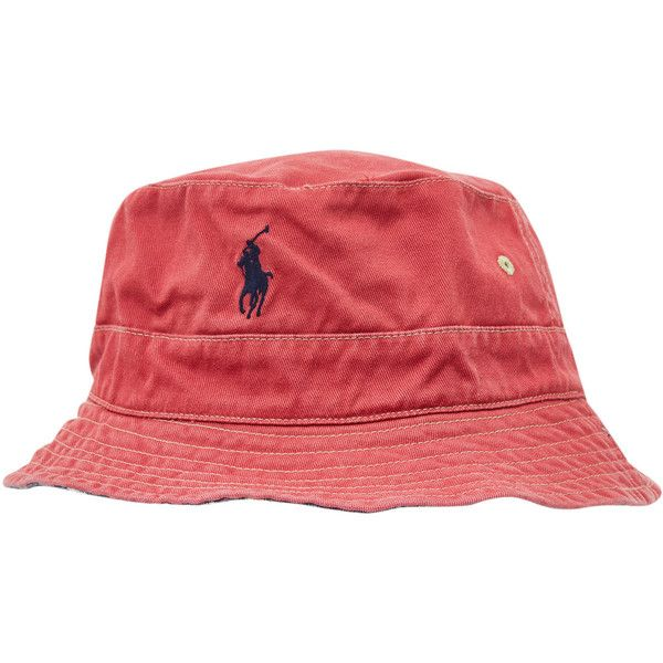 Polo Ralph Lauren Accessories Red Reversible Sun Hat (€59) ❤ liked on Polyvore featuring accessories, hats, bucket hats, headwear, wide brim fishing hat, fisherman hat, wide brim bucket hat, polo ralph lauren and embroidery hats