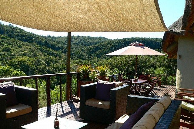 Bush Lodge view deck at Sibuya Game Reserve #KentononSea #EasternCape #SouthAfrica www.sibuya.co.za