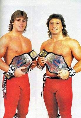 AWA World Tag Team Champions The Midnight Rockers (Michaels and Jannetty)