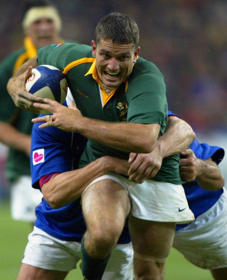 Joost Van Der Westhuizen - played a Rugby World Cup final with a broken rib, repeatedly stopped Jonah Lomu and battling Motor Neurone Disease, 'awesome' doesn't seem good enough