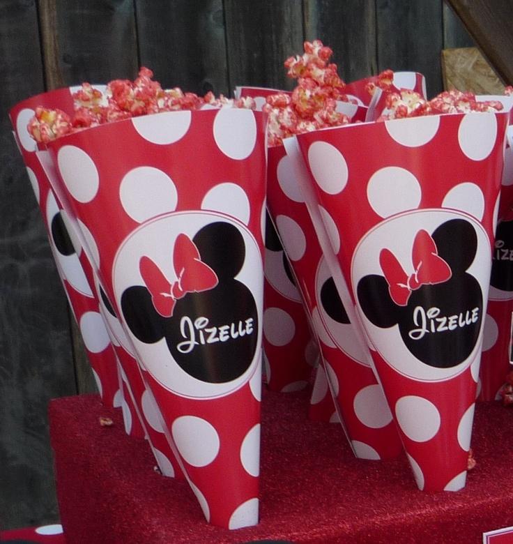 Minnie Mouse Popcorn Cones- printable, Go To www.likegossip.com to get more Gossip News!