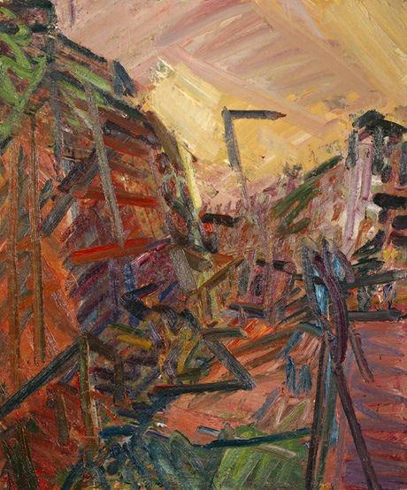 Frank Auerbach's Mornington Crescent - Winter Morning 1989. Photograph: Frank Auerbach/Tate Britain