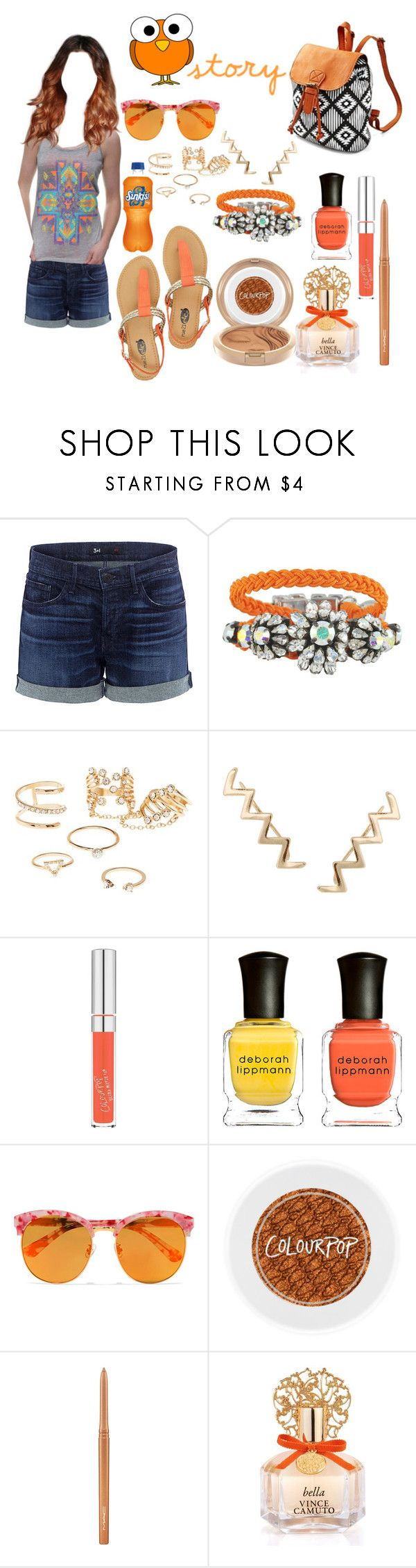 """""""STORY"""" by baileycalifornia ❤ liked on Polyvore featuring 3x1, Mariah Carey, Barakà, Charlotte Russe, Humble Chic, Deborah Lippmann, Gentle Monster, MAC Cosmetics, Vince Camuto and owl"""