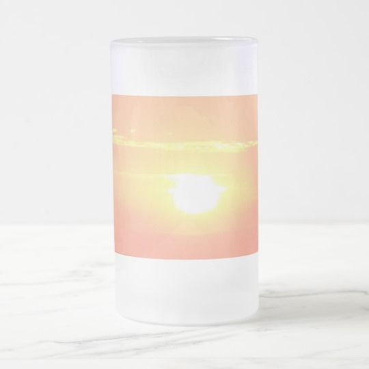 #zazzle #Sunset #Frosted #16 oz #Frosted #Glass #Mug #office #home #travel #gift #giftidea