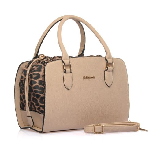 Γυναικεία Τσάντα με Leopard λεπτομέρειες Sally Young SY1470 Beige