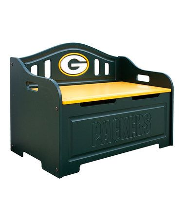 Take a look at this Green Bay Packers Storage Bench by Fan Creations on #zulily today!